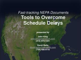 Fast-tracking NEPA Documents Tools to Overcome Schedule Delays