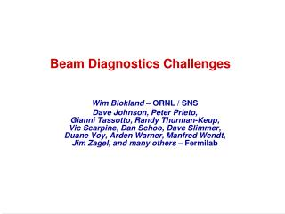 Beam Diagnostics Challenges