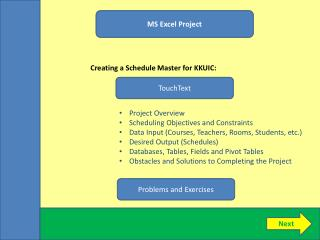 MS Excel Project