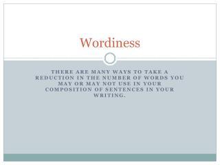 Wordiness