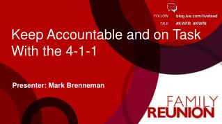 Keep Accountable and on Task With the 4-1-1