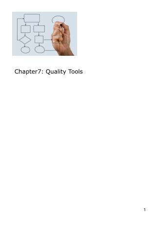 Chapter7: Quality Tools