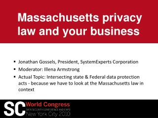 Massachusetts privacy law and your business