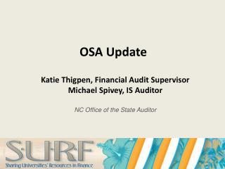 OSA Update