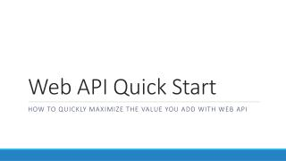 Web API Quick Start