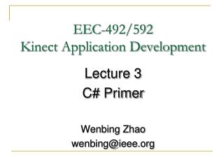Lecture 3 Delegates, Events