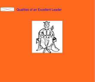 Qualities of an Excellent Leader