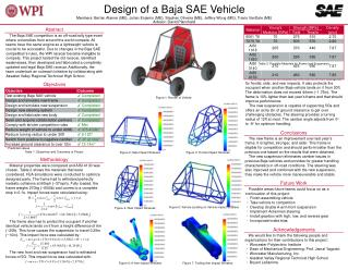 Design of a Baja SAE Vehicle