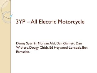 3YP – All Electric Motorcycle