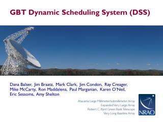 GBT Dynamic Scheduling System (DSS)