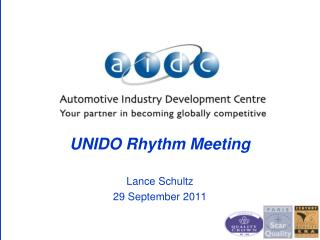 UNIDO Rhythm  Meeting