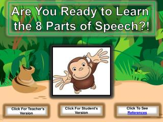 Are You Ready to Learn  the 8 Parts of Speech?!