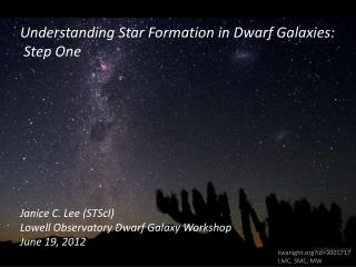 Understanding Star Formation in Dwarf Galaxies:  Step One