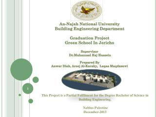 An-Najah National University Building Engineering Department Graduation  Project
