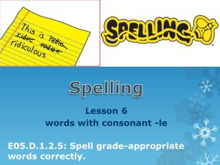 Lesson  6   words  with  consonant -le