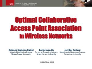 Optimal Collaborative  Access Point Association In Wireless Networks