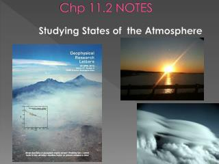 Chp  11.2 NOTES