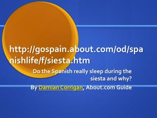 gospain.about/od/spanishlife/f/siesta.htm