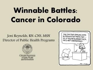 Joni Reynolds, RN-CNS, MSN Director of Public Health Programs