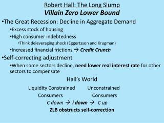 Robert Hall: The Long Slump