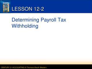 LESSON 12-2