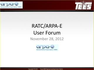 RATC/ARPA-E User Forum