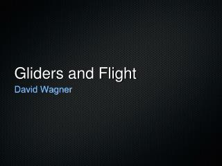 Gliders and Flight