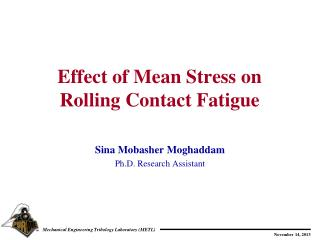 Effect of Mean Stress on Rolling Contact Fatigue