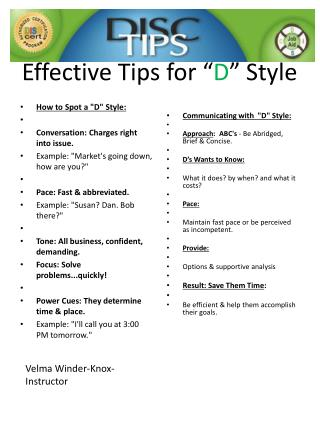 "Effective Tips for "" D "" Style"