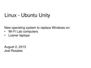 Linux -  Ubuntu Unity
