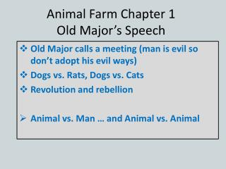 Animal Farm Chapter 1 Old Major's Speech