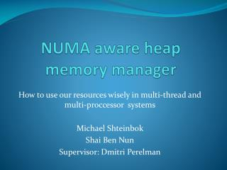 NUMA aware heap memory manager