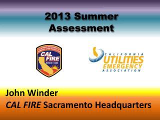 2013 Summer Assessment