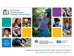 Intentional teaching and the Early Years Learning Framework with Judy Radich, Cooloon Children s Centre Inc