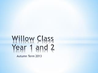 Willow Class Year 1 and 2