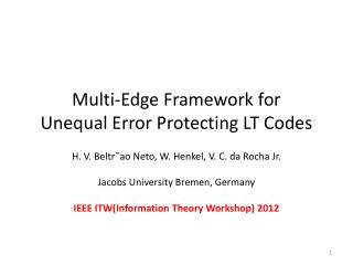 Multi-Edge Framework for  Unequal Error Protecting  LT Codes