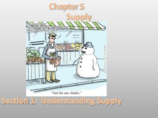 Chapter 5 Supply Section 1:  Understanding Supply