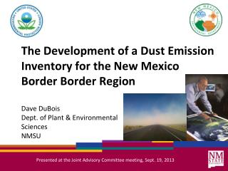 The Development of a Dust Emission Inventory for the New Mexico Border Border Region