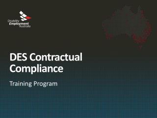 DES Contractual Compliance
