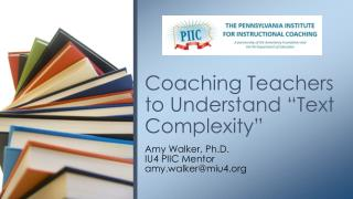 """Coaching Teachers to Understand """"Text Complexity"""""""