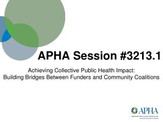 APHA Session #3213.1