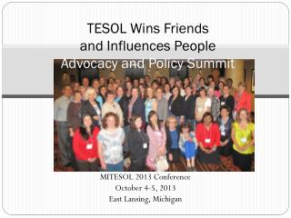 TESOL Wins Friends  and Influences People  Advocacy and Policy Summit