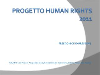 PROGETTO HUMAN RIGHTS 2011