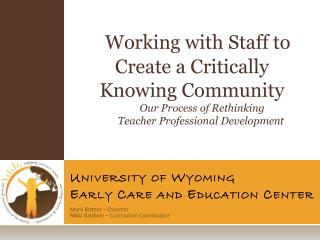 University of Wyoming Early Care and Education Center
