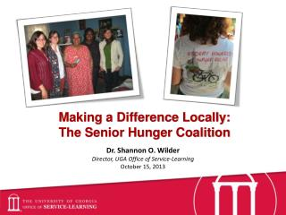 Making a Difference Locally:  The Senior Hunger Coalition