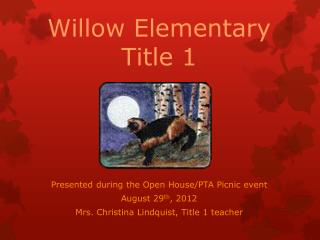Willow Elementary Title 1
