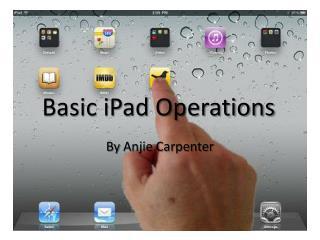 Basic iPad Operations