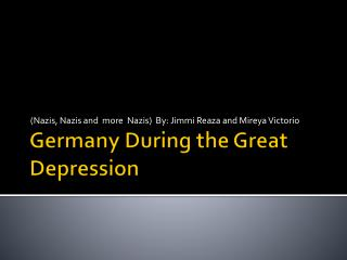 Germany During the Great Depression