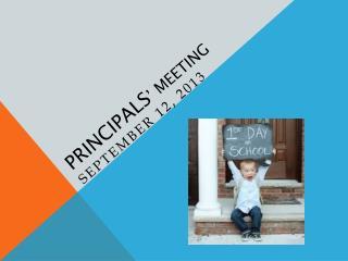 Principals ' Meeting
