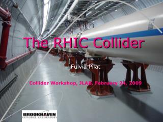 The RHIC Collider